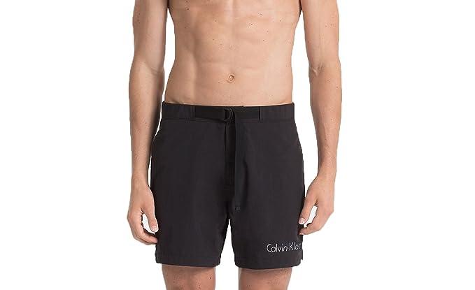 Calvin Klein Jeans Men Swimwear Medium Belt KM0KM00172 XL Black ... f8c9957bfe1