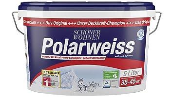 Schöner Wohnen Kollektion Innenfarbe Polarweiss 5 Liter Amazonde