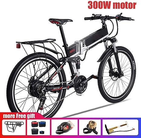 JAEJLQY Bicicleta de Montaña Bicicleta eléctrica 350 W/500 W 110 ...