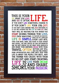 Holstee Manifesto Life Motivational A4 260gsm Framed Poster Print