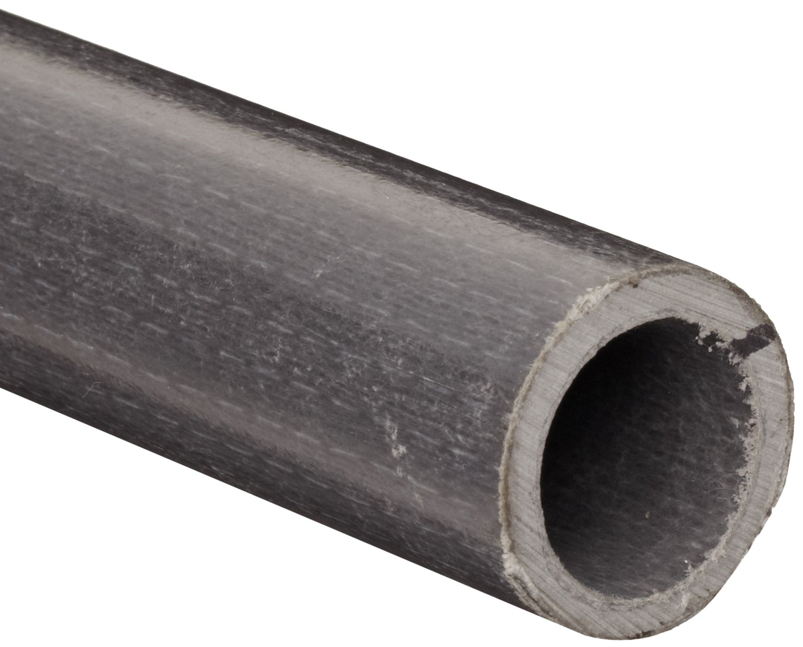 Black Fiberglass Hollow Round Bar, 1'' OD, 1/8'' Wall, 5' Length by Small Parts