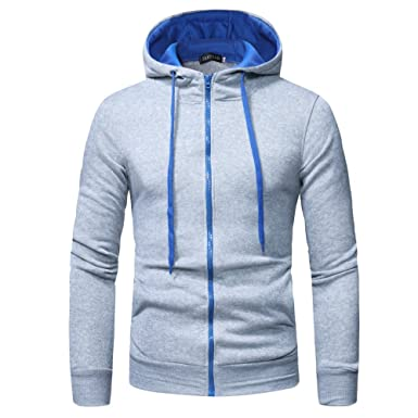 4ce766539dc6 ❁Tefamore Manches Longues Hommes Sweat à Capuche Hauts Outwear Manteau de  Veste  Amazon.fr  Vêtements et accessoires