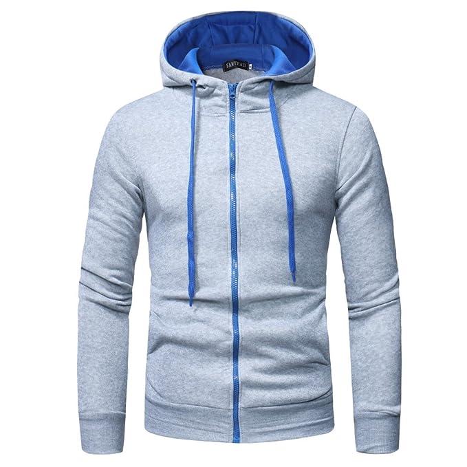 YunYoud Kapuzenpullover Mode Herren Lange Ärmel Sweatshirt