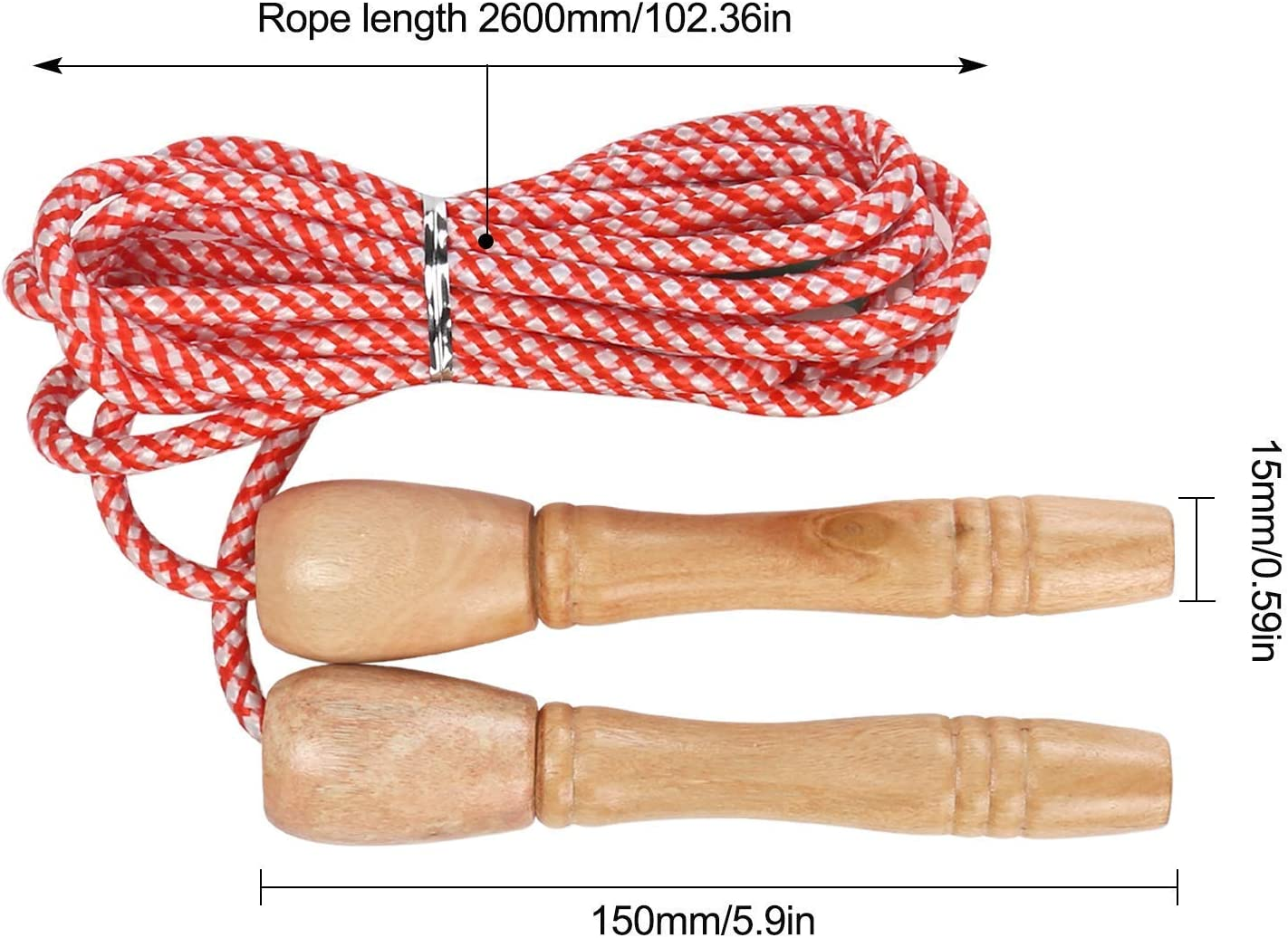 Aiskki Cuerda de saltar ajustable para niños, cuerda de saltar con ...