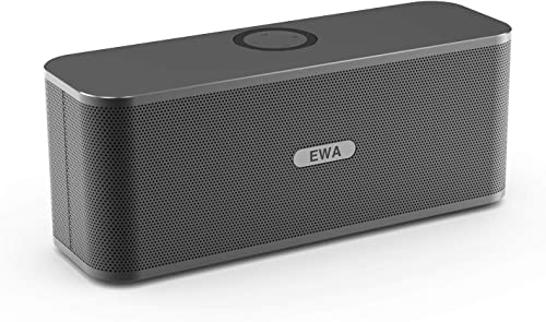 EWA W1 Bluetooth Speaker with Loud Stereo Sound, Portable Speaker for Travel, 8 Hour Playtime, Outdoor Party Wireless Speaker, Support TF Card Gray
