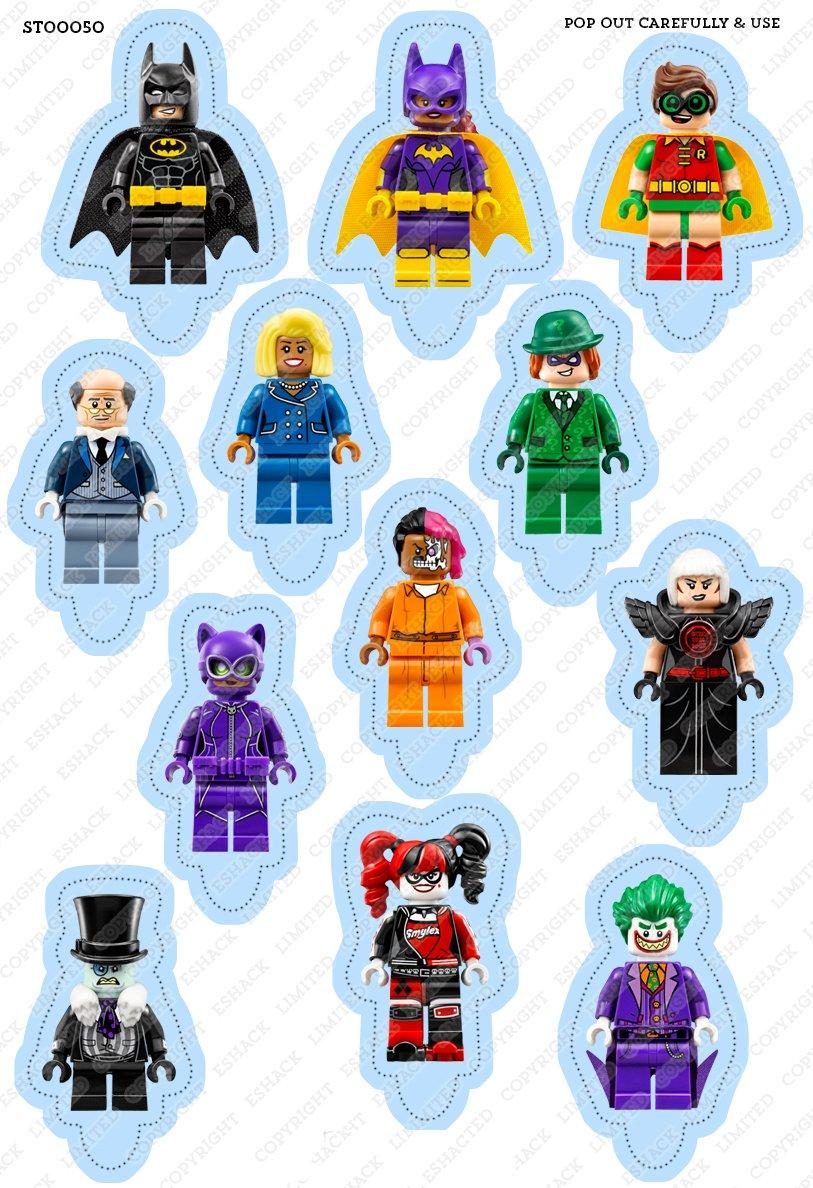 d3a4ce5f1cded1 Toppershack Scène pour gâteau Lego Batman Le film comestible PRÉ-DÉCOUPÉE -  26 décorations