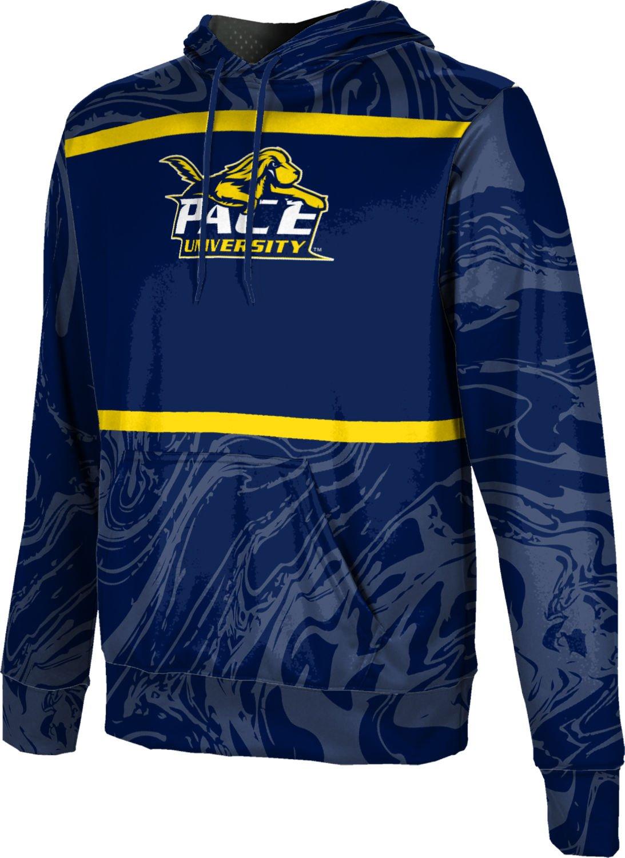 ProSphere Pace University Boys' Pullover Hoodie, School Spirit Sweatshirt (Ripple) FD001 Blue and Gold