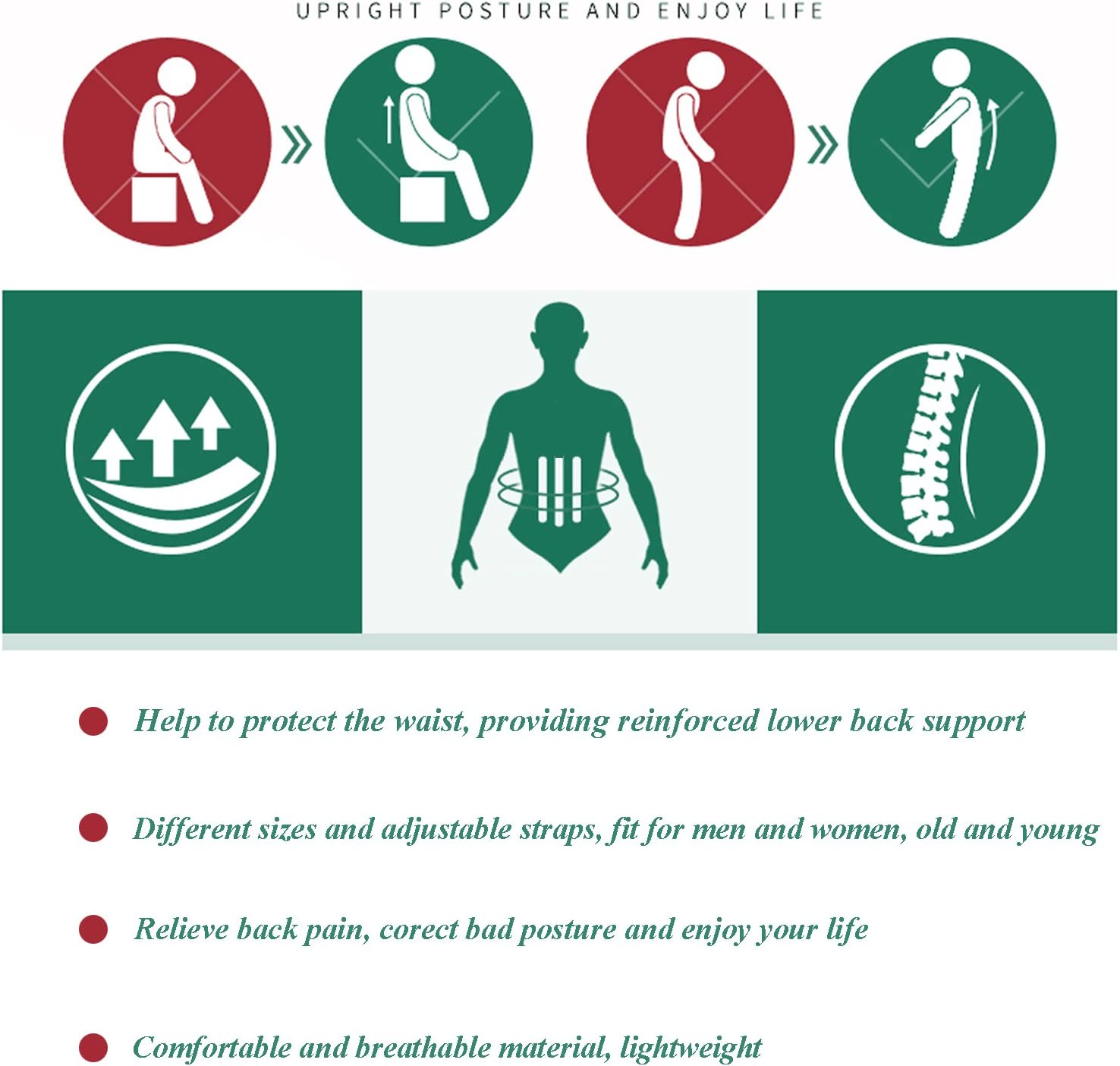 VALOIN Best Back Posture Corrector for Men and Women Back /& Shoulder-Adjustable Back Straightener ,078 Upper Back Brace for Clavicle Support and Protecting Pain from Neck