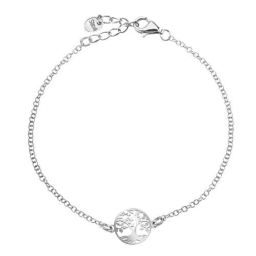 aspetto dettagliato 5a11b 89bb1 Stroili - Bracciale in argento 925 rodiato per Donna: Amazon ...