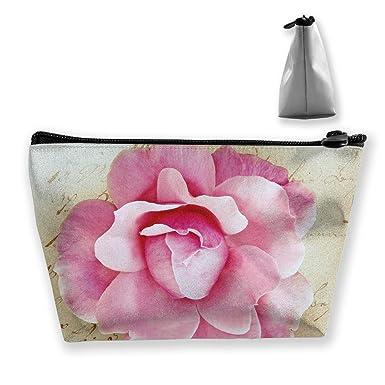 Amazon.com: Bolso de almacenamiento de flores rosas con ...
