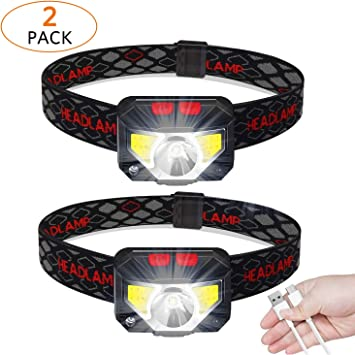 Adjustable Strap LED Headlight Head Lamp Torch for Camping Outdoors Sports Hobby