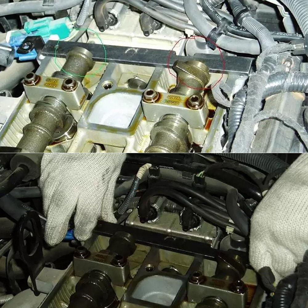 LULUNA 5pcs Herramientas de árbol de levas kit de fijación herramienta para ajuste de motor para Ford Mazda: Amazon.es: Coche y moto