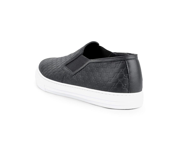 37bdfc713380 Amazon.com  Gucci Men s Dublin Microguccissima Leather Signature Slip-On  Sneaker