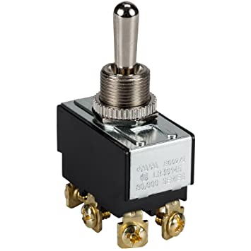 amazon com heavy duty bat handle momentary toggle switch dpdt 2 prong toggle switch wiring diagram amazon com heavy duty bat handle momentary toggle switch dpdt (on) off (on) 30 050 home improvement