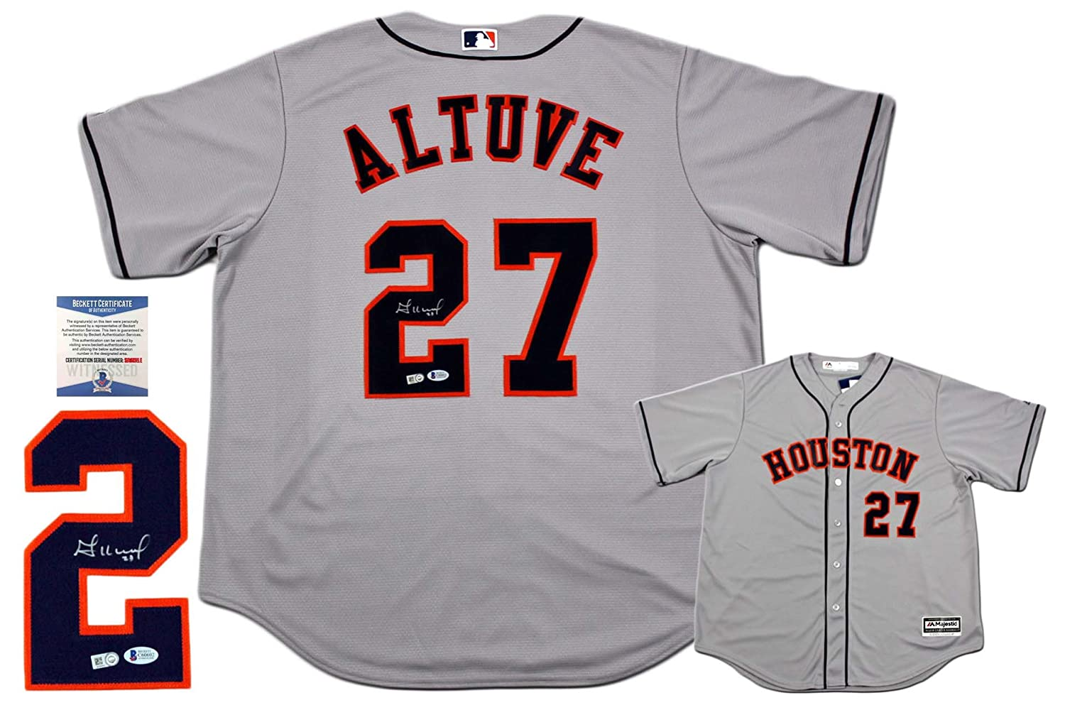 5af1ff26da2 ... 2017 world series champions cool base jersey by majestic 4deb9 0bc46   coupon code for jose altuve autographed signed majestic houston astros  jersey mlb ...