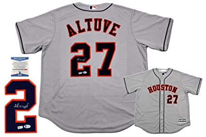 brand new 3bb23 6dd02 Jose Altuve Autographed SIGNED Majestic Houston Astros ...