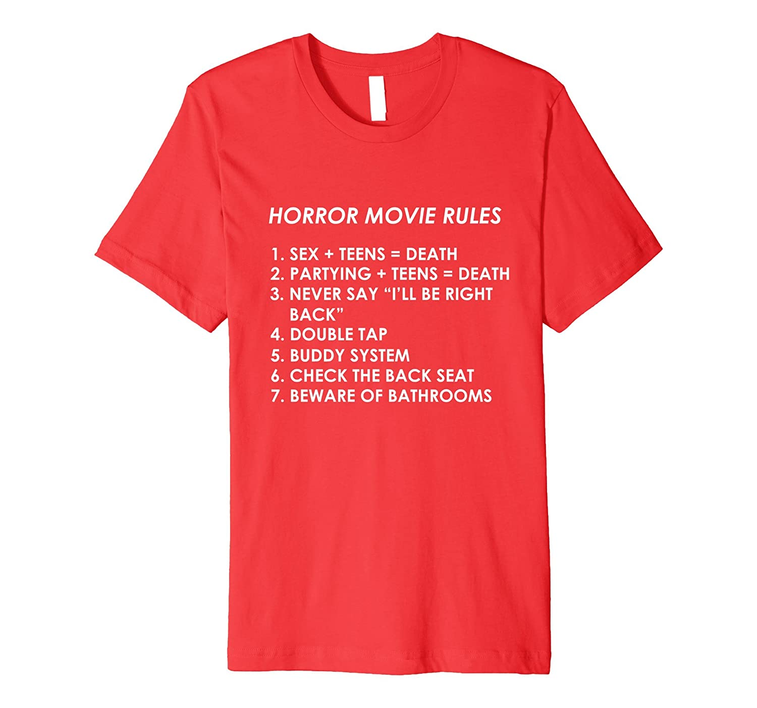 Horror Movie Rules T-Shirt Premium-FL