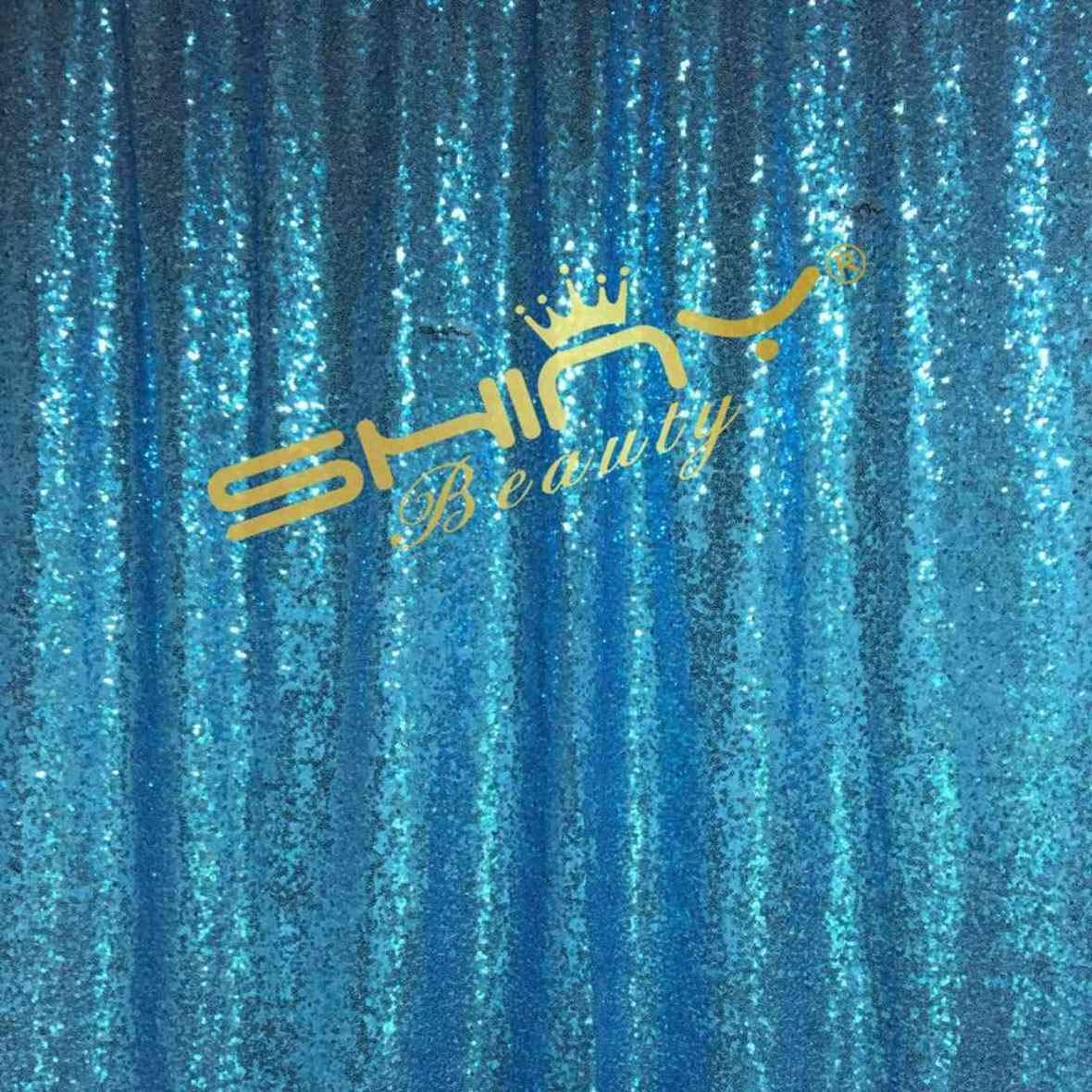 ShinyBeauty スパンコール背景カーテン 20フィートx10フィート スパンコール背景幕 AQU スパンコール写真背景幕 ターコイズスパークル写真背景幕 Y1121   B07KQWF625