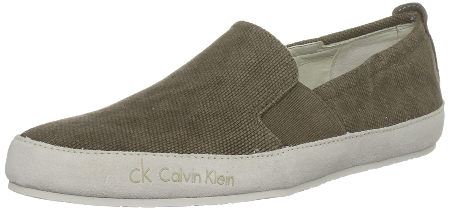 Calvin Klein Peter O10460 - Mocasines de tela para hombre, color marrón, talla 41: Amazon.es: Zapatos y complementos