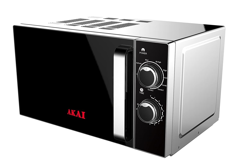 Akai AKMW201 Hornos, 700 W, 20 litros, Negro, Acero Inoxidable ...