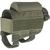 THURergK reliable Portable Tactical Ammo Pouch Military Nylon Buttstock Shell Cartridge Holder Bullet Bag Gun Holster Shotgun Rifle Case for Outdoor Hunting Wargame CS Field Gear Accessories for Home Decoration