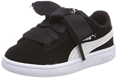06bc28b46a2a Puma Girls Smash V2 Ribbon Ac Inf Trainers  Amazon.co.uk  Shoes   Bags