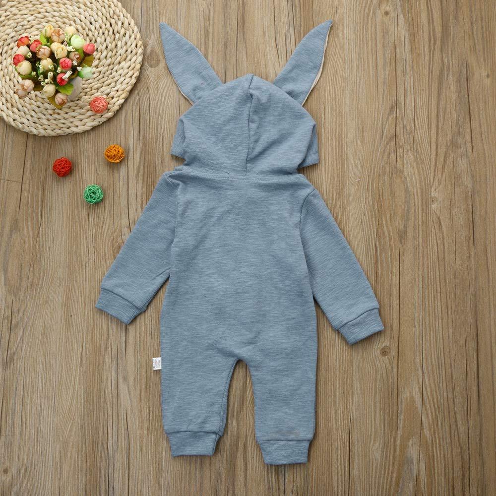 Baby Warmes Kapuzen Hoodie Sweatshirt,Beikoard Kaninchenroben des Jungen und des M/ädchens 3D Jumpsuit Outfits Kleidung