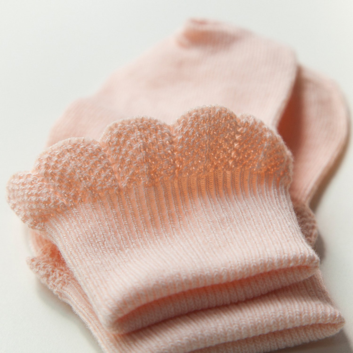XPX Fashion Cotton Infant Baby Gilrs Princess Lace Socks Toddler 5 Pack