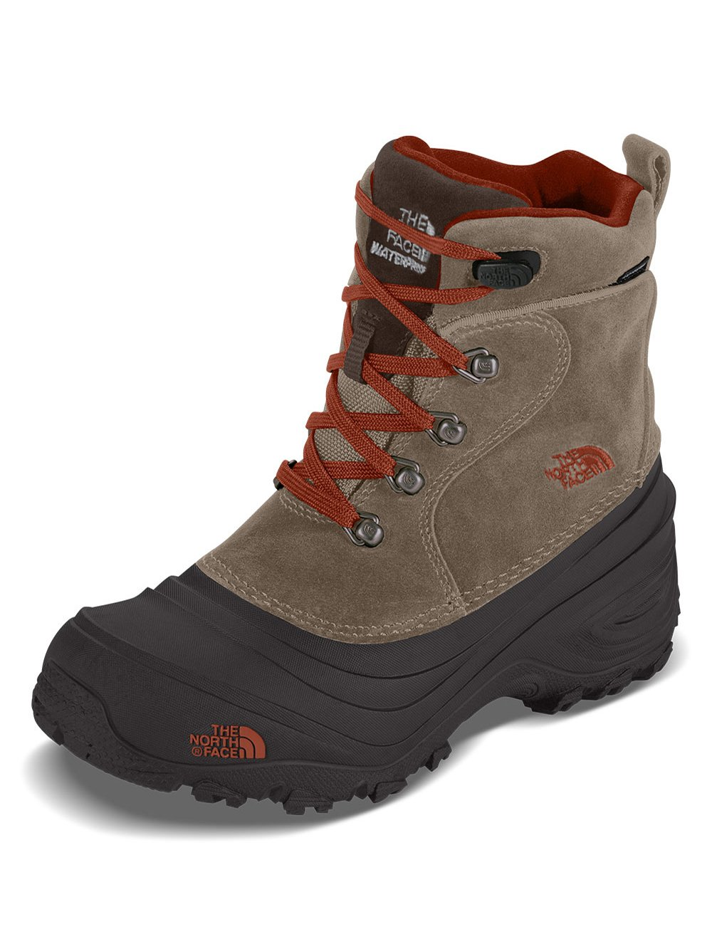 The North Face Boys Chilkat Lace II Boots - mudpack brown/sienna orange, 5
