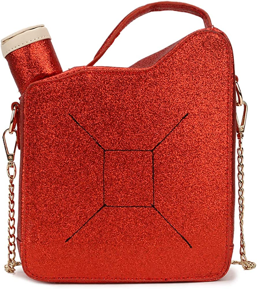 Ye Store Red Orange Corrugated And Spots Lady PU Leather Handbag Tote Bag Shoulder Bag Shopping Bag