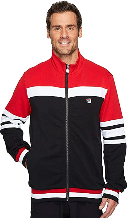 Buy Fila Men's Courto Jacket, Black, Chinese Red, White, L Online at ...