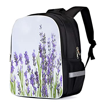 37fae0be99ed Amazon.com: Laptop Backpack Daypack Beautiful Nature Purple Flower ...