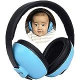 防音イヤーマフ 安全新生児耳保護遮音値31dB NRR プロテクター フリーサイズ 折りたたみ型 子供用 自閉症 聴覚過敏 睡眠 勉強 劇場 花火 飛行機 コンサート等様々な用途に、青