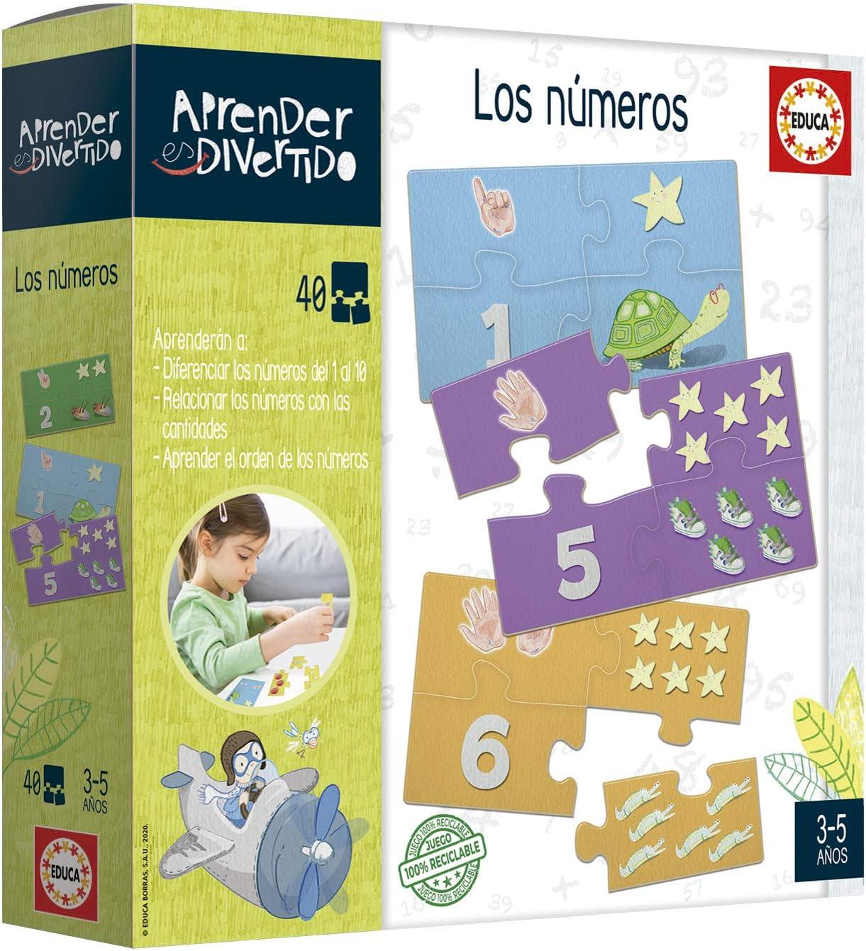Educa- Aprender es Divertido: Los Números Juego Educativo para niños, a Partir de 3 años (18695): Amazon.es: Juguetes y juegos
