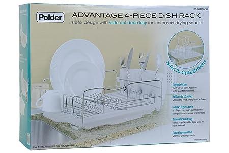 Polder Kth 615 Advantage Dish Rack White Amazon Co Uk Kitchen Home