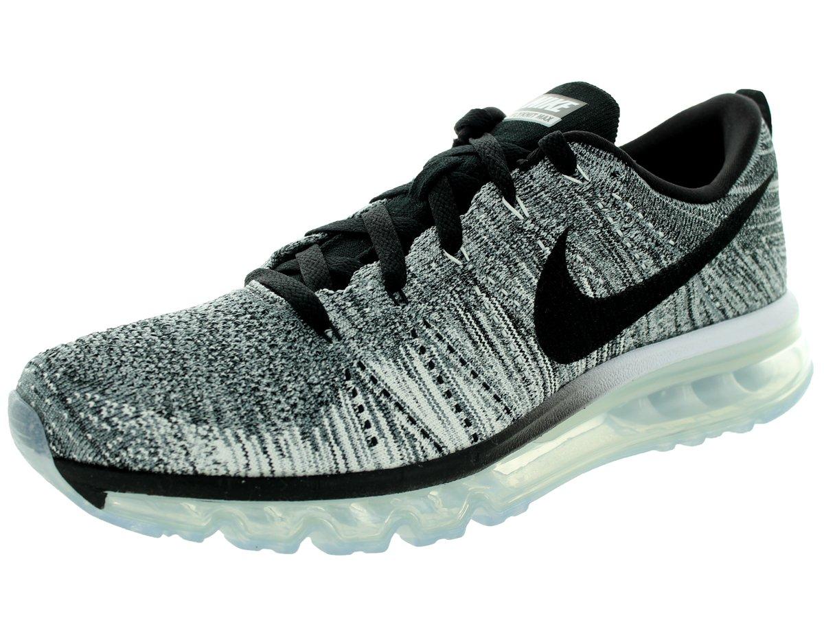 NIKE Flyknit Max 'Oreo' Running Shoes White Black Cool Grey Wolf Grey 620469 102 B00TYA7MH6 11 D(M) US|White/Black/Cool Grey/Wlf Grey