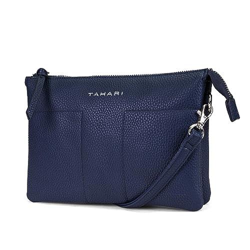 352fa96317e3 Tahari Womens Vegan Leather Crossbody Purse Wallet On A String Bag  (Midnight)  Handbags  Amazon.com