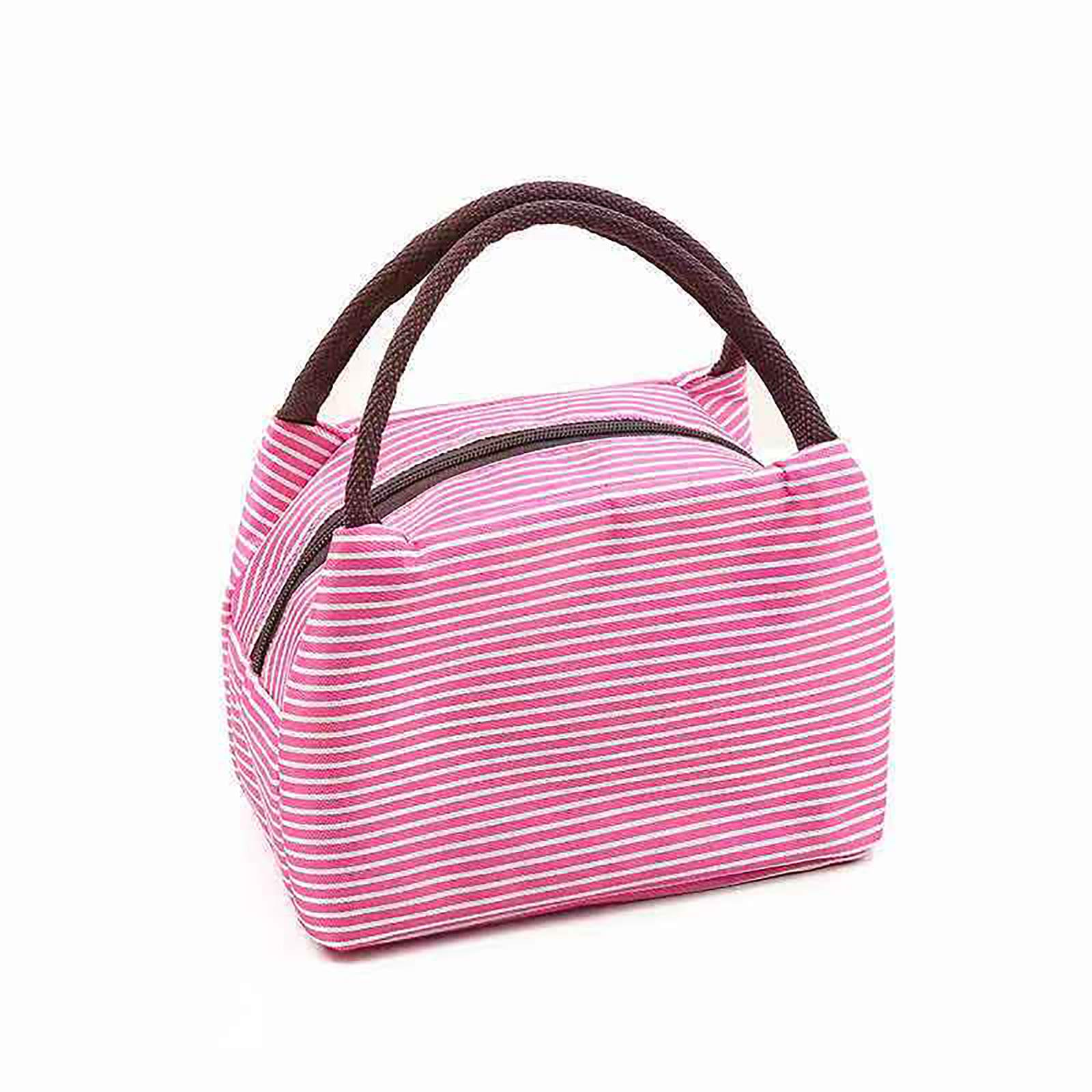 YXZFZ Reusable Insulated Lunch Bag Cooler Tote Box with Front Pocket Zipper