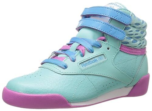 a0bc0a6a6d Reebok Freestyle High Classic Shoe (Little Kid/Big Kid)
