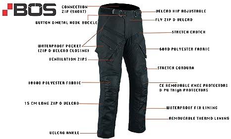 Schwarz Texpeed Herren Motorradhose mit Protektoren Wasserdicht Cordura Textil Alle Gr/ö/ßen