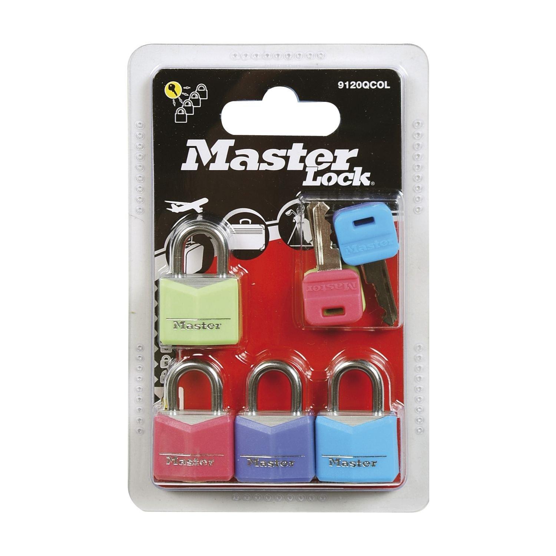 20mm Master Lock 9120EURQCOLNOP Candados Multicolor Set de 4 Piezas