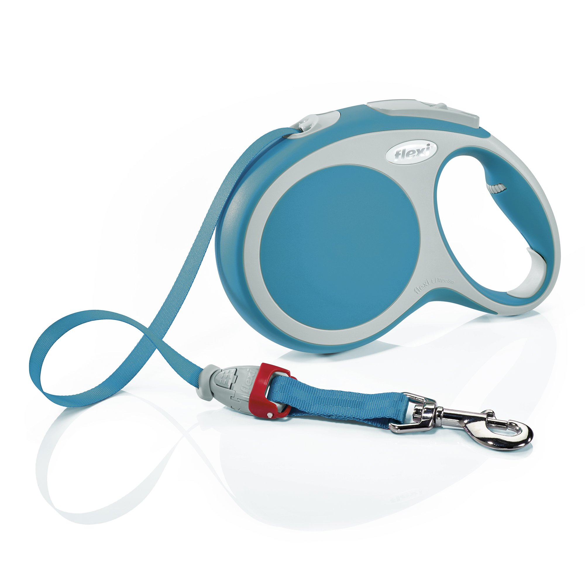 Flexi Vario Retractable Dog Leash (Tape), 26 ft, Large, Turquoise