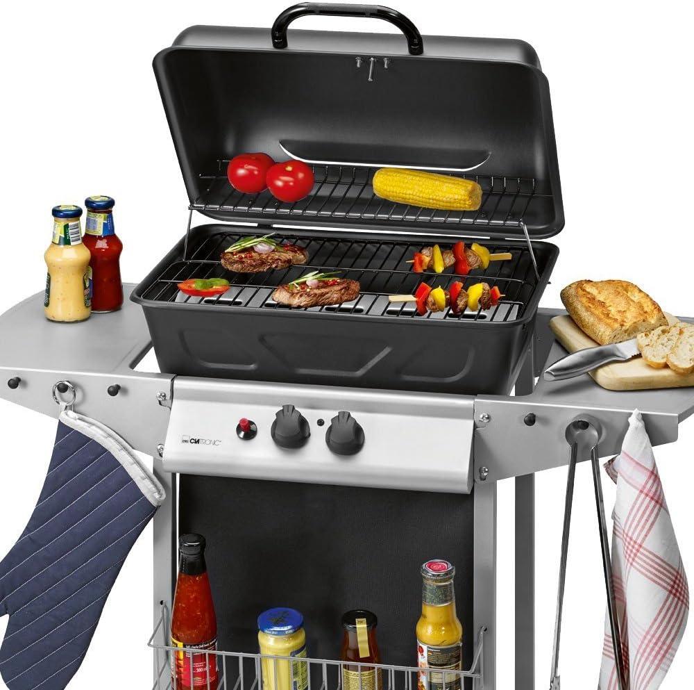 CLATRONIC Gasgrill GG 3590 Grillwagen Barbecue Grill Temperaturanzeige BBQ NEU