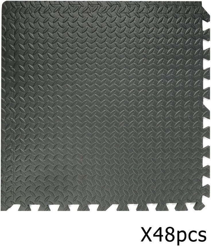 Puzzlematte aus Eva Randst/ück Unterlegmatte Fitnessmatte Gymnastikmatte inkl Bodenschutzmatte je 23.62x 23.62 Matte f/ür Bodenschutz Poncherish3DE Schutzmatte 48 St/ück