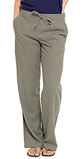 b8896f0c1c4af INSIGNIA Ladies Womens Casual Linen Trousers Cool Elastic Back Bottoms with  Pockets