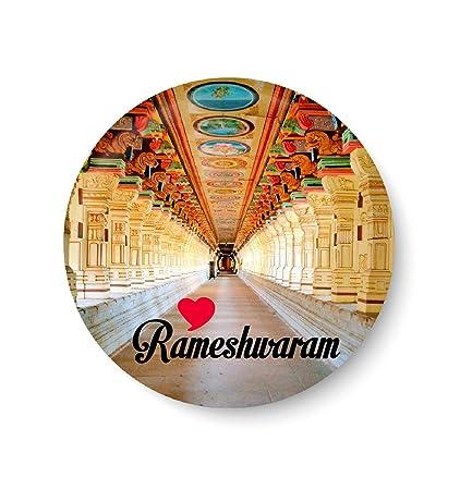 PEACOCKRIDE Metal Love Rameshwaram Fridge Magnet (75 mm, Multicolour)