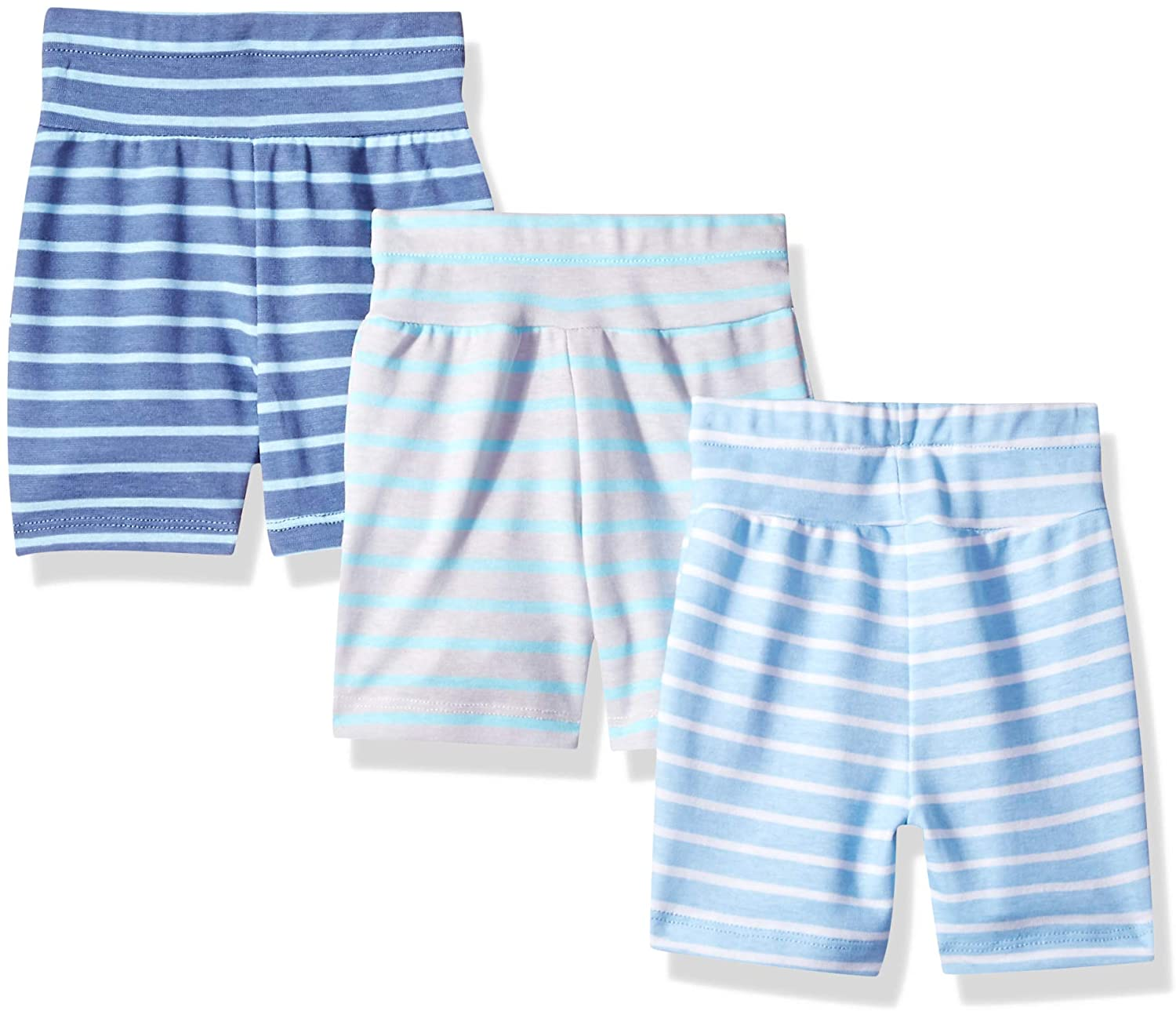 Hanes Ultimate Baby Flexy 3 Pack Adjustable Fit Knit Shorts: Clothing
