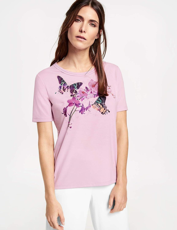 Gerry Gerry Gerry Weber Damen T-Shirt 1 2 Arm Shirt mit Frontdruck Soft, fließend, elastisch Gemustert figurumspielend Rundhals B07PNDGYJP T-Shirts Niedriger Preis 3cdc2b