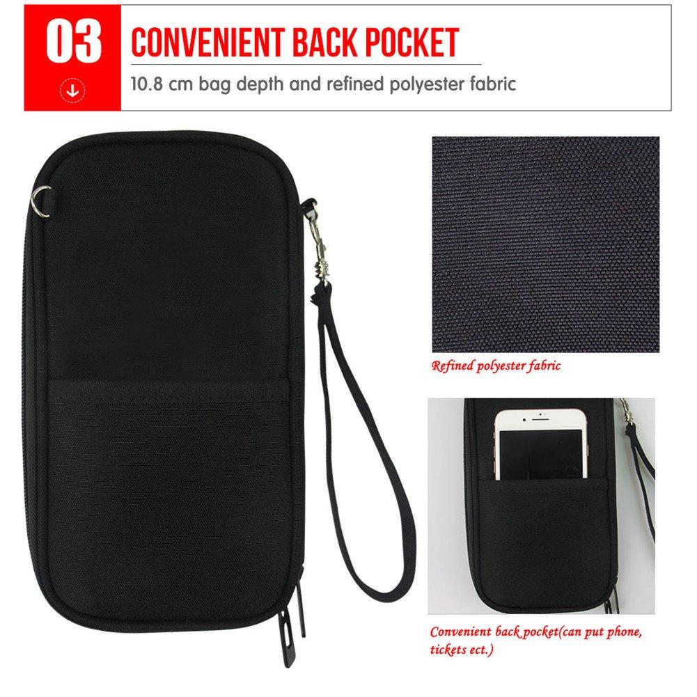 Cool Wolf Design Passport Carrier Covers Holders for Women Girl Boy Passport Case