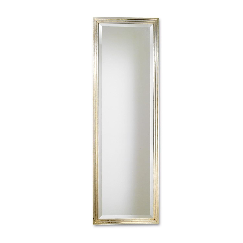 Espejo con marco de madera, hoja plateado, made in Italy Certificado